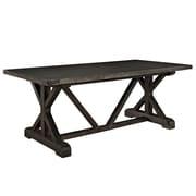"Modway EEI-1198-BLK 78.5"" Rectangular Dining Table, Black"
