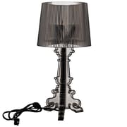 "Modway French Petit EEI-1226-BLK 20"" 2 Light Acrylic Floor Lamp, Black"