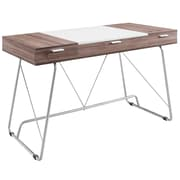 Modway 47'' Rectangular Wood/Veneer Contemporary Writing Desk, Birch (848387027261)