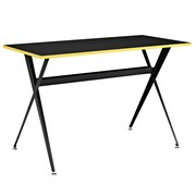 Modway EEI-1325-BLK Contemporary Melamine/Steel Writing Desk, Black