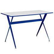Modway EEI-1325-BLU Contemporary Melamine/Steel Writing Desk, Blue