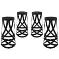 Modway EEI-1361-BLK Set of 4 30in. Ribbon Bar Stool, Black