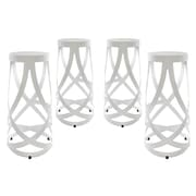 "Modway EEI-1361-WHI Set of 4 30"" Ribbon Bar Stool, White"