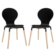 Modway Path EEI-1368 Set of 2 Wood Dining Chairs, Black