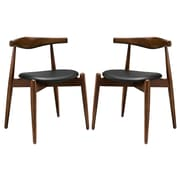 Modway Stalwart EEI-1377 Set of 2 Wood Dining Side Chairs