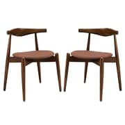 Modway Stalwart EEI-1377 Set of 2 Wood Dining Side Chairs, Tan