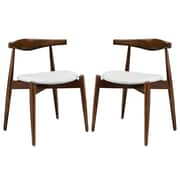 Modway Stalwart EEI-1377 Set of 2 Wood Dining Side Chairs, White