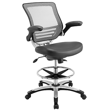 Modway EEI 211 GRY Edge Drafting Chair Gray Staples
