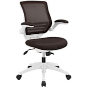 Modway EEI-596-BRN Edge White Base Office Chair, Brown