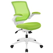 Modway EEI-596-GRN Edge White Base Office Chair, Green