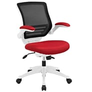 Modway EEI-596-RED Edge White Base Office Chair, Red