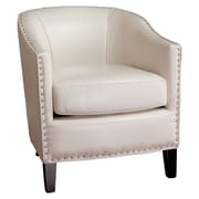 Home Loft Concept Starks Faux Leather Club Chair; Ivory