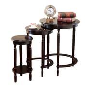 Mega Home 3 Piece Round Nesting Table Set