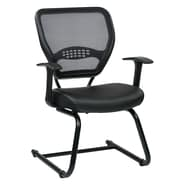 Office Star Space Seating 18.5'' Professional AirGrid Back Visitors Chair with Eco Leather Seat