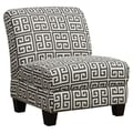 Handy Living Andee Slipper Chair; Smoky Charcoal Gray