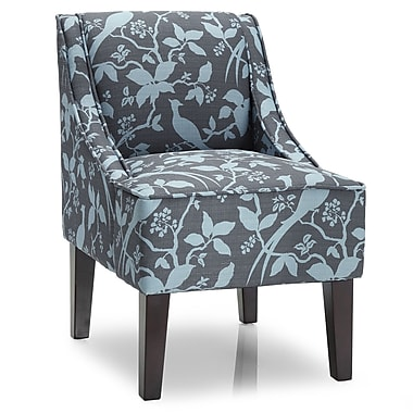 DHI Marlow Bardot Slipper Chair; Teal