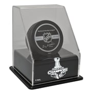 Caseworks International Chicago Blackhawks Stanley Cup Champions Floating Hockey Puck Display