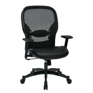 Office Star Space Seating 21.25'' Professional Breathable Mesh Back Chair with Eco Leather Seat