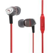 Nutz™ Audio Swank 3.5mm Connector Earphones With Mic, Red