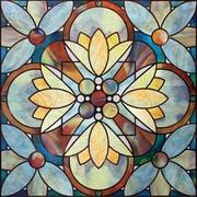 "Artscape 12""H x 12""W Quatrefoil Multi-Color Window Film"