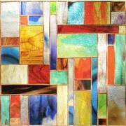 """Artscape 12""""H x 12""""W Collage Multi-Color Window Film"""