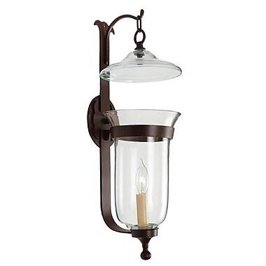 JVI Designs 1-Light Large Bell Jar Candle Sconce; Polished Nickel