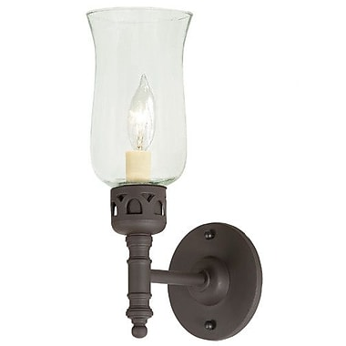 JVI Designs 1-Light Wall Sconce; Polished Nickel