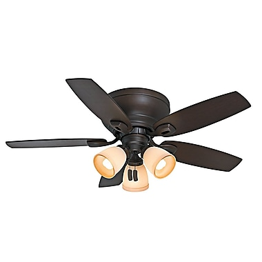 Casablanca Fan 44'' Durant 5 Blade Fan; Maiden Bronze with Smoked Walnut/Walnut Blades