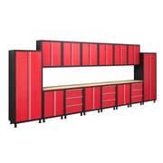 NewAge Products Bold Series 35416 17-Piece Complete Storage System, Red