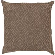 Surya LD026-1818D Atlas 100% Linen w/ Cotton Detail, 18 x 18 Down Feathers
