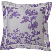 "Surya FBC002-1818D Decorative Pillows 100% Cotton, 18"" x 18"" Down Fill"