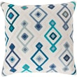 "Surya KSG003-2020D Woven Geo 100% Cotton, 20"" x 20"" Down Fill"