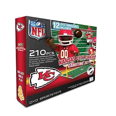 OYO Sports – Ensemble de terrain de football de la NFL, Kansas City Chiefs