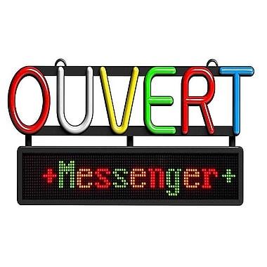 Royal Sovereign – Enseigne Ouvert avec messager à défilement, français