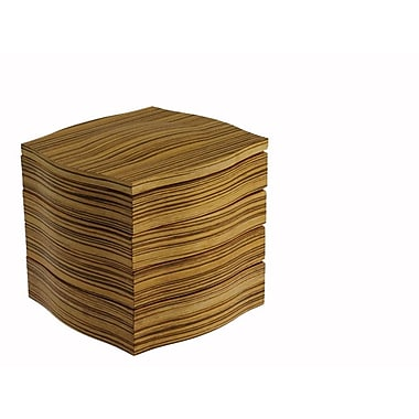 Legnoart® My Coffee Cube, Zebra Wood/Beige