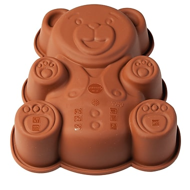 Pavoni Platinum Silicone Mini Bake Mould, Orsetto Teddy Bear, 5