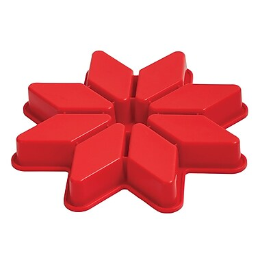 Pavoni Platinum Silicone Star Cake Mould, 8 Portions, 1.3