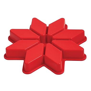 Pavoni - Moule à gâteau en silicone platine Étoile, 8 portions, 1,3 po x 10,2 po, rouge