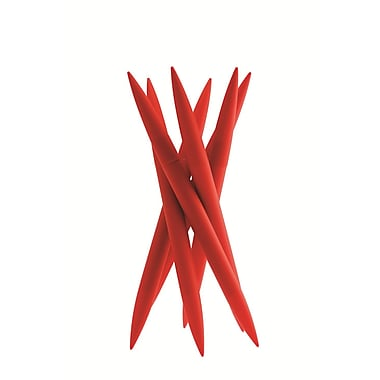Legnoart® Spicy Magnum Knife Block with 6 Different Knives, Red