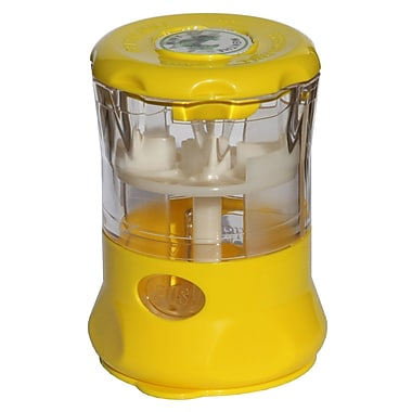 Fresh Mill Herb Grinder with Storage Labels, Yellow