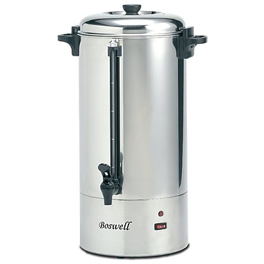 Boswell PC190C Coffee Percolator, Stainless Steel, 100 Cup