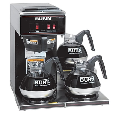 Bunn VP17-3L 12 Cup Pourover Coffee Brewer, 3 Lower Warmers