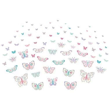 WALL POPS!® Large Wall Art Kit, Flutterby Butterfly, 84 Stickers