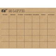 WALL POPS!® Monthly Dry-Erase Calendar, Kraft