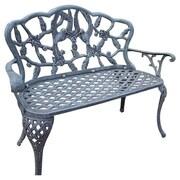 Oakland Living Hummingbird Aluminum Garden Bench; Verdi Grey