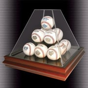Caseworks International Pyramid Style 13 Ball Boardroom Display Case; Yes