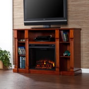 Wildon Home   Caswell 52'' TV Stand with Electric Fireplace; Classic Mahogany
