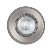 Globe Electric 25662 0.59 1-Light Puck Light, Brushed Nickel