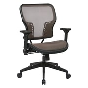 Space Seating Air Grid Fabric Computer and Desk Office Chair, Fixed Arms, Brown (213-88N1F3)