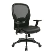 Space Seating Professional Breathable Back Leather & Mesh Chair